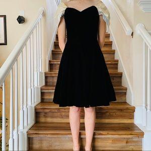 Vintage Scott McClintock Black Velvet Prom Dress 4